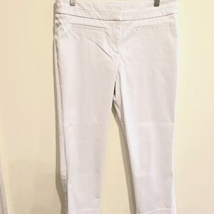 New York & Company Stretch White Cropped Pants